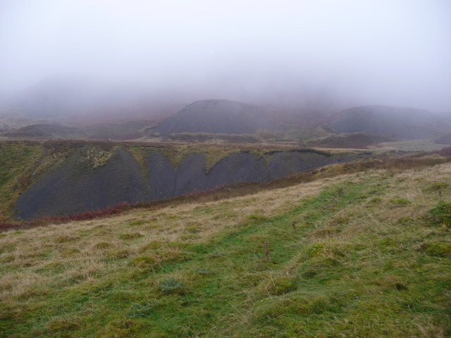 Old coal tips above Abersychan