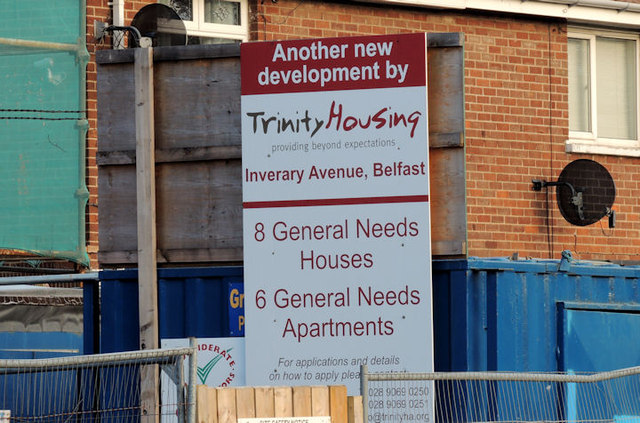 Housing association sign, Sydenham, Belfast