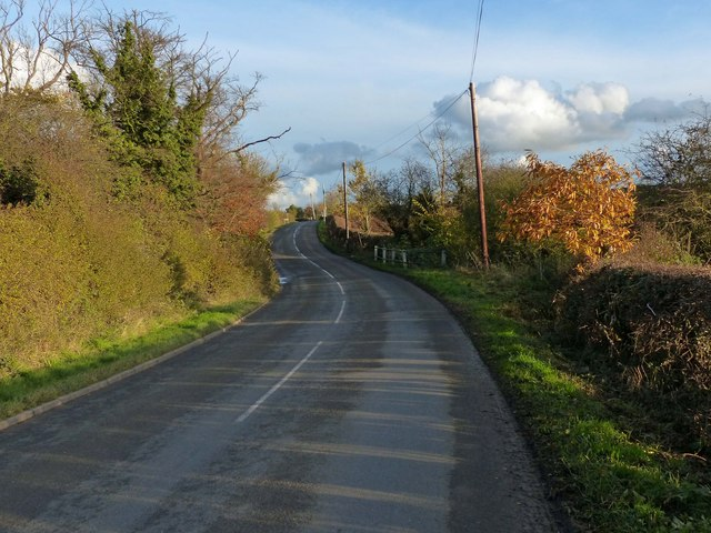 Barkby Road heading towards Beeby
