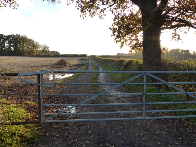 Farm track near Barkby Grange Farm