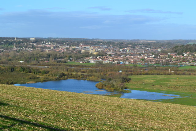 Pond on Morestead Sewage Works