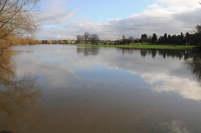Flooded playing fields