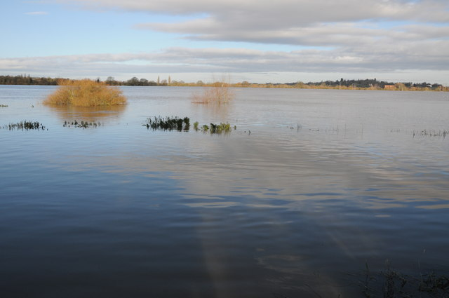 Flooded Severn Ham, Tewkesbury