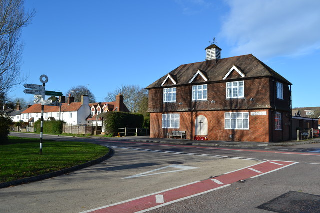 Bentley Memorial Hall and crossroads