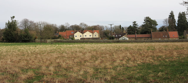 Houses of Whorlton from the west
