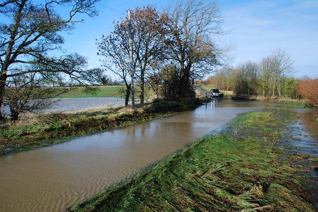 Birthorpe Ford in Flood
