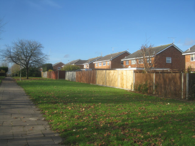 Rear view of Britten Road houses