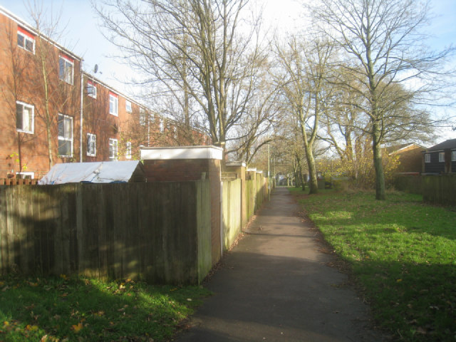 Path behind Schubert Road flats