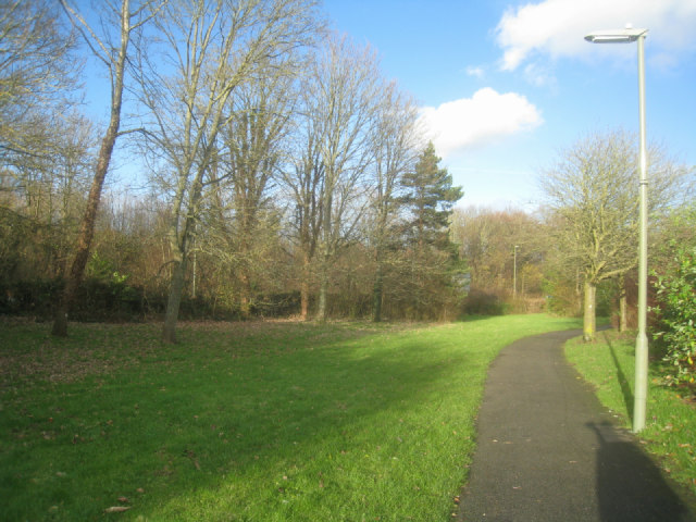 Path behind Worcester Avenue