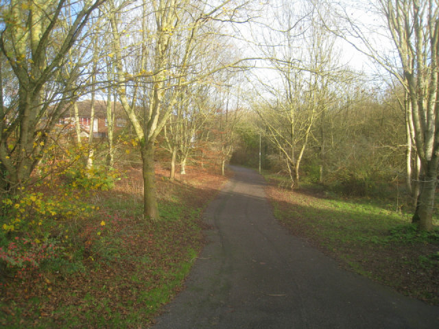 Path around Hatch Warren playing fields