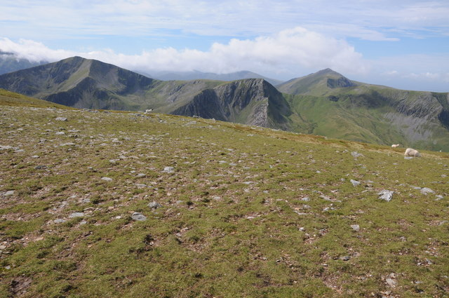 Y Garn and Elidir Fawr viewed from the east