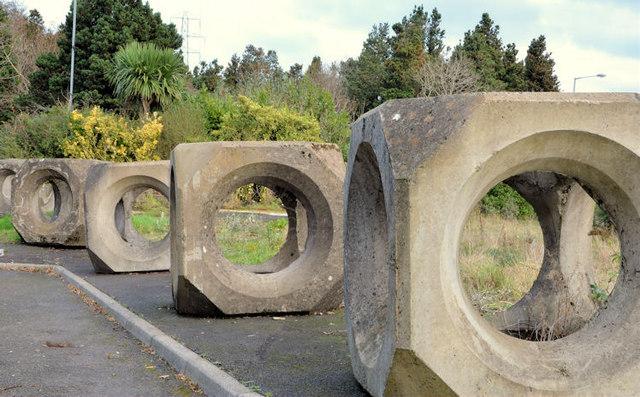Concrete cubes, Bangor