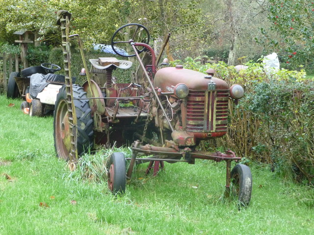 Old tractor at Lem Hill near Far Forest