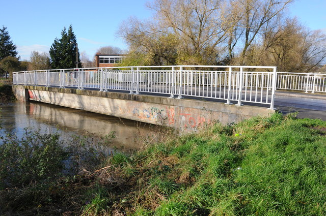 Bridge over the flooded River Swilgate