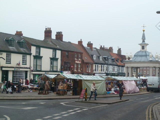 Beverley market place and cross