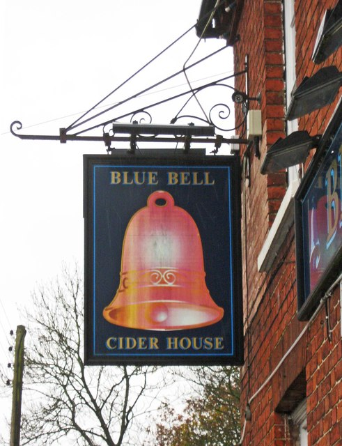 Blue Bell Cider House (2) - sign, Warings Green Road, Hockley Heath near Solihull
