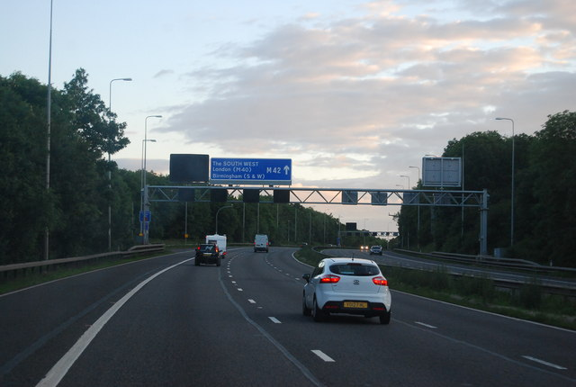 Gantry on the M42