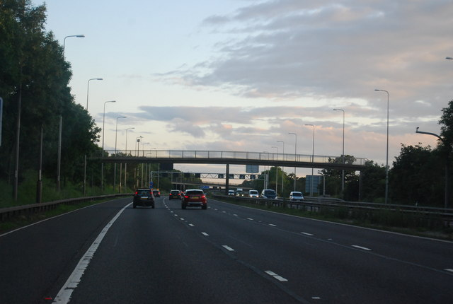 Footbridge over the M42