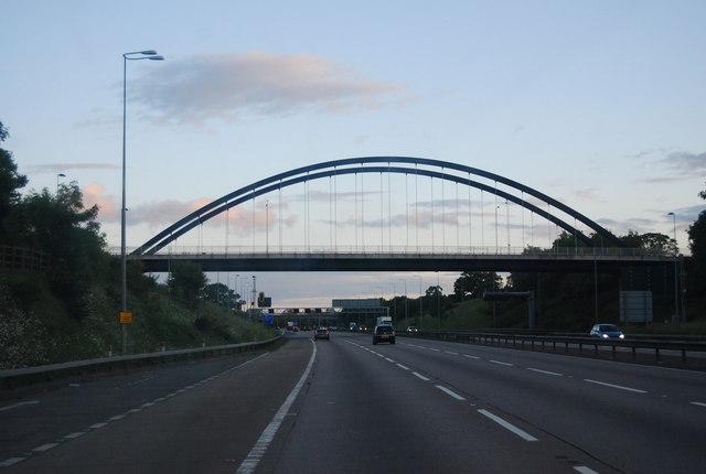 Blythe Valley Park access bridge, M42