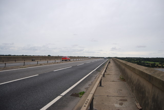 Stour and Orwell Walk crossing the Orwell Bridge