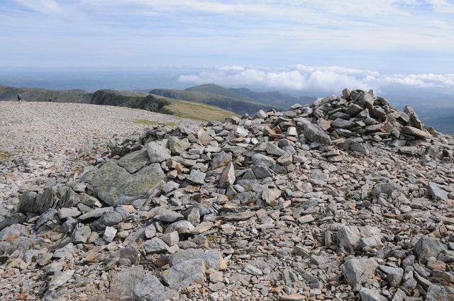 Summit cairn on Carnedd Dafydd