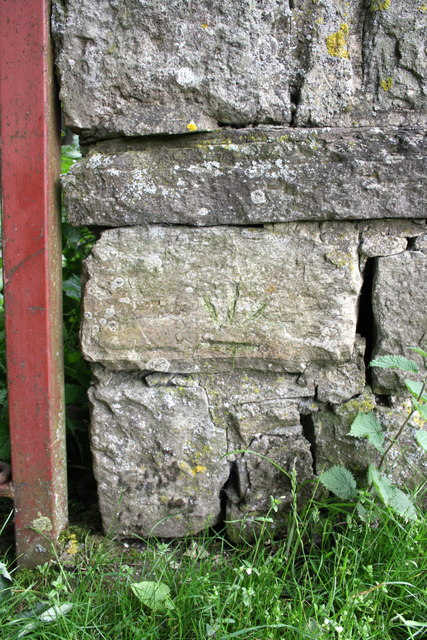 Benchmark on wall pier of Morepeth Gate gateway