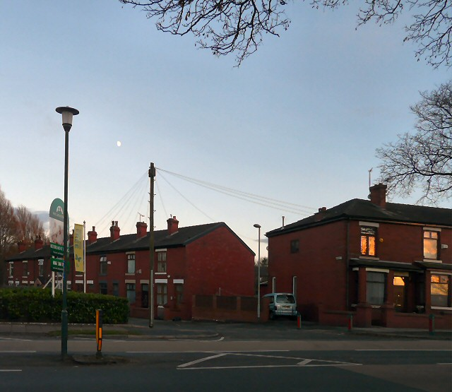 Moon over Garside Street