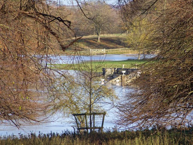 Floods in Charlecote Park