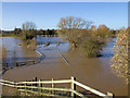 SP2660 : Flooded fields near Barford by David P Howard