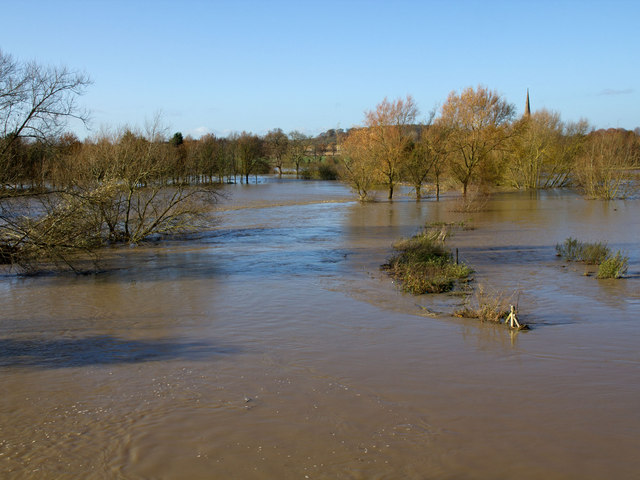 Flooded fields near Barford