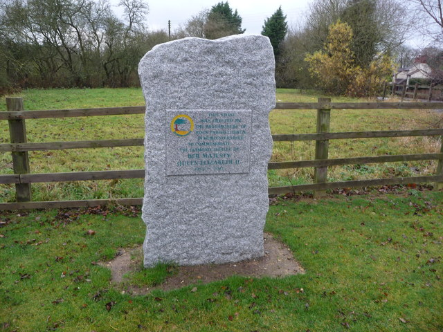 Rock parish Golden Jubilee Stone at Fingerpost