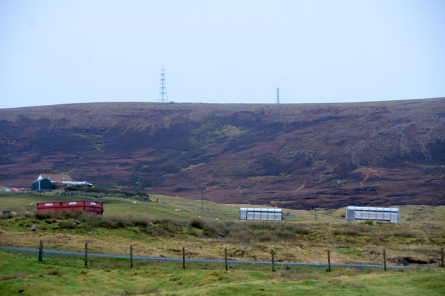 View to Collafirth Hill from south of Collafirth