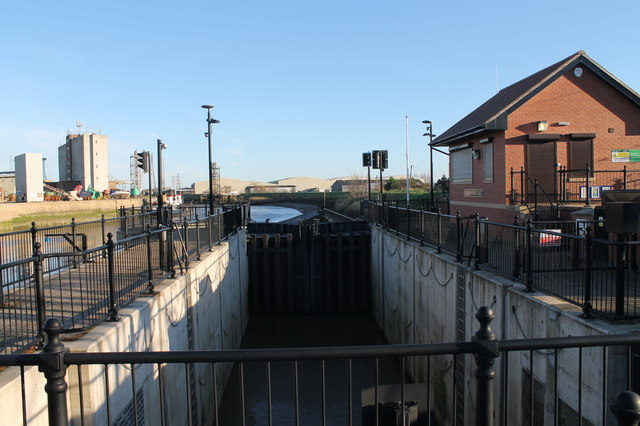 Black Sluice Lock, Boston