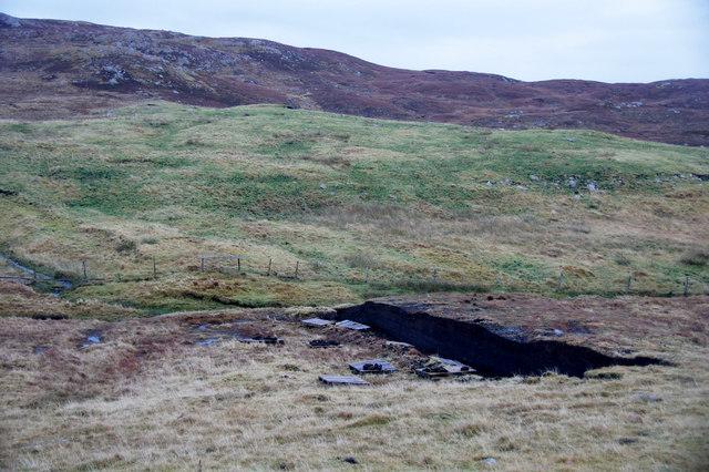 Peat bank near Sandy Lochs