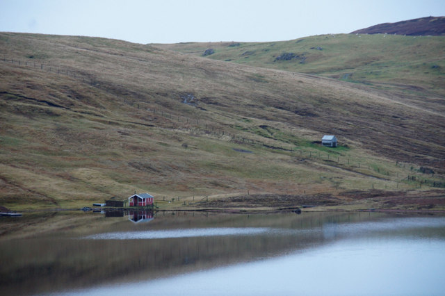 Boat shed at Loch of Lunnister