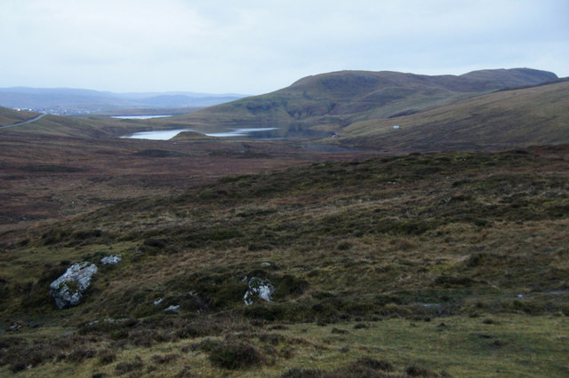 View to Loch of Lunnister from north of Sullom