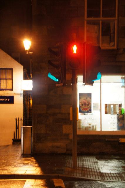 Pedestrian crossing, Esplanade, Lerwick