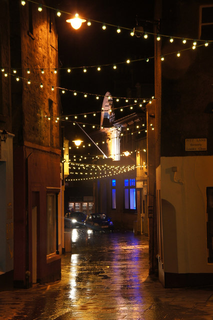 Christmas lights, Commercial Street, Lerwick