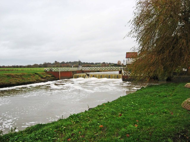 The weir on the Mill Avon by Abbey Mill, Tewkesbury