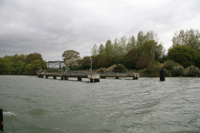 River Medina - former loading jetty