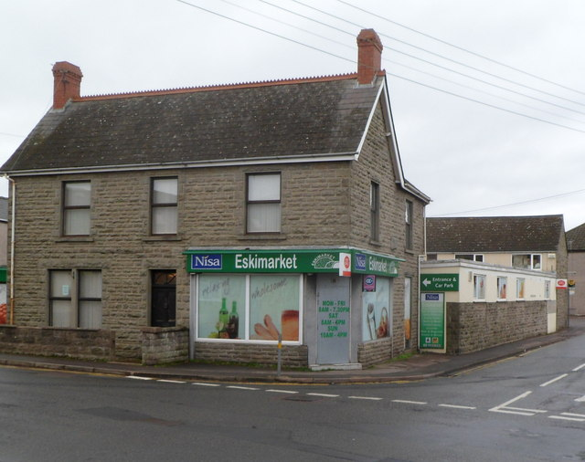 Corner view of the Nisa Eskimarket and post office, Coalway