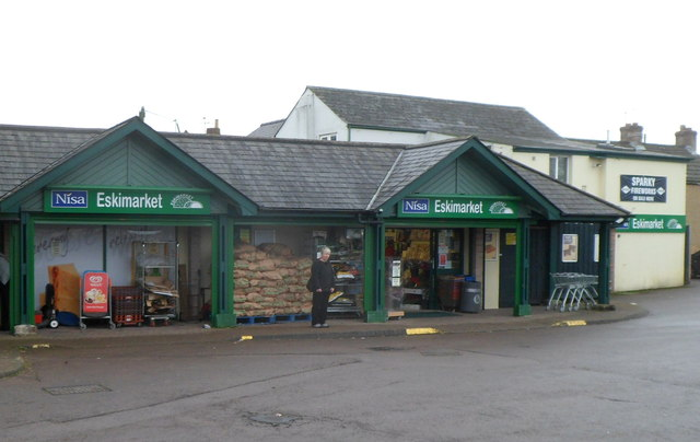 North side of Nisa Eskimarket and post office, Coalway