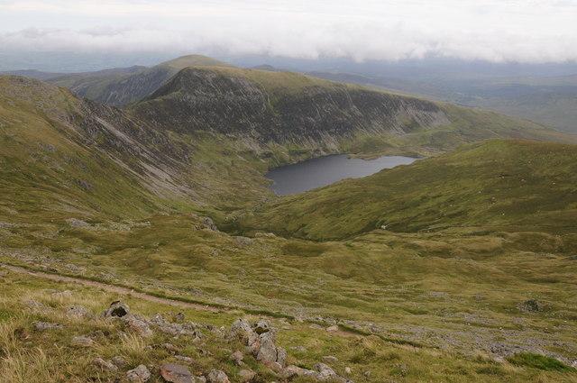 View into Cwm Llugwy from Bwlch Cyfrwy-drum