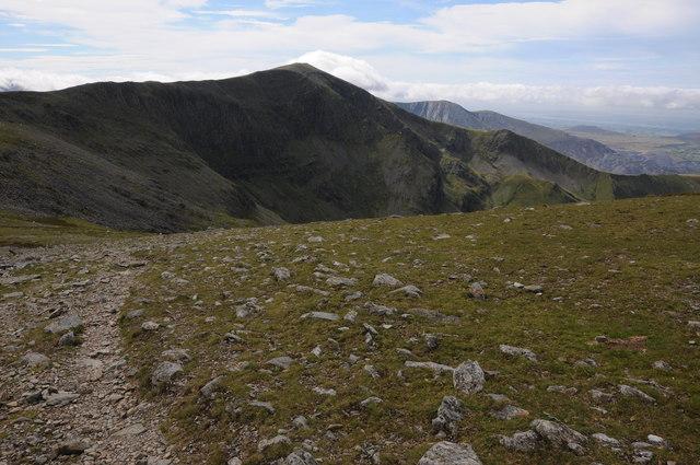 Carnedd Dafydd viewed from Bwlch Cyfrwy-drum