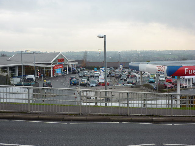 Tesco supermarket and fuel
