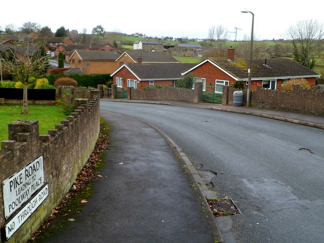 Pike Road leading to Poolway Place, Coleford