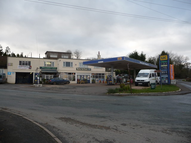The Mawley Oak garage and filling station