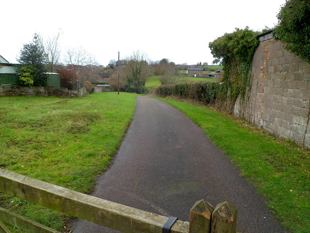 Public footpath to Poolway Farm, Coleford