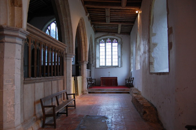 South aisle, St George's church, Ivychurch