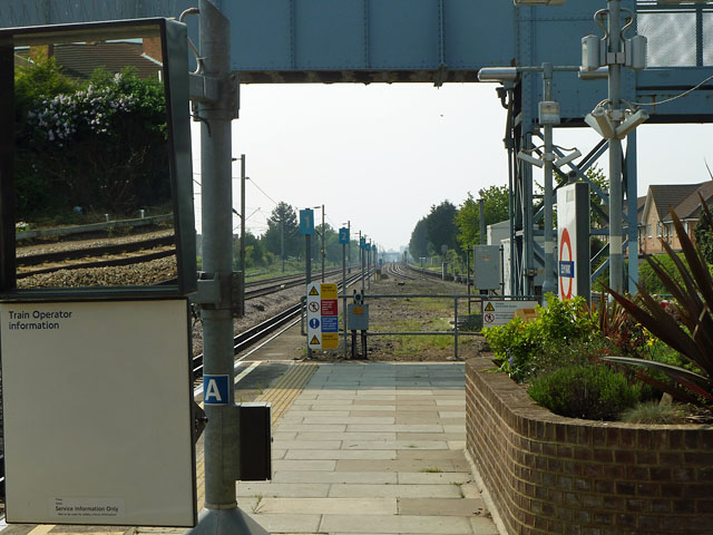 View west from Elm Park station